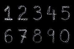 Números de la tiza Imagen de archivo libre de regalías