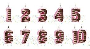 Números de la torta Imagen de archivo libre de regalías