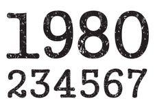Números de la vendimia stock de ilustración