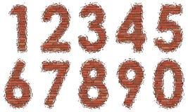 Números de ladrillos Imagenes de archivo