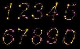 Números de los fuegos artificiales Foto de archivo