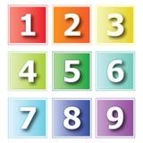 Números de los iconos Imágenes de archivo libres de regalías