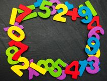 Números de madeira coloridos Foto de Stock