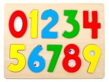 Números de madera imagen de archivo