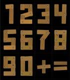 Números de madera Imagen de archivo libre de regalías