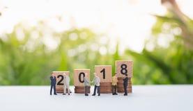 Números de madera 2018 Imágenes de archivo libres de regalías