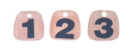 Números de madera Fotos de archivo libres de regalías