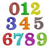 Números de madera del color fotos de archivo