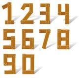 Números de madera determinados stock de ilustración