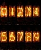 Números de Nixie Imagen de archivo