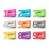 Números de opções, elemento do infographics Fotografia de Stock