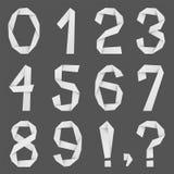 Números de papel ilustración del vector