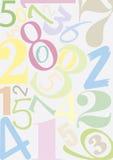 Números de Pastell ilustración del vector