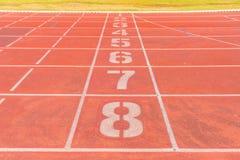 Números de pistas da trilha Foto de Stock
