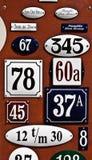 Números de placa Imágenes de archivo libres de regalías
