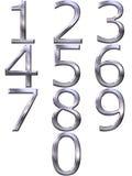 números de plata 3D Imagen de archivo libre de regalías