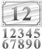 Números de prata ilustração stock