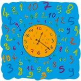 Números de reloj Foto de archivo
