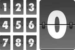 Números de reloj analogicos del vector Foto de archivo