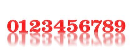 Números de sequência tridimensionais Imagens de Stock Royalty Free