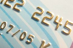 Números de tarjeta de crédito foto de archivo libre de regalías