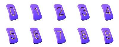 Números de zero a nove Foto de Stock