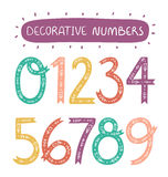 Números decorativos Fotografía de archivo
