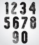 Números decorativos amalucados preto e branco Imagens de Stock