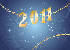 Números del año 2011 stock de ilustración