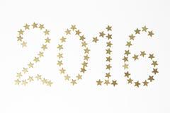 2016 Números del Año Nuevo Imagen de archivo libre de regalías