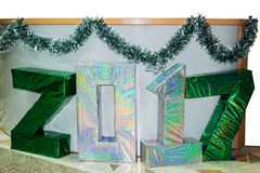 Números del Año Nuevo, hechos de la cartulina y del papel Fotografía de archivo libre de regalías