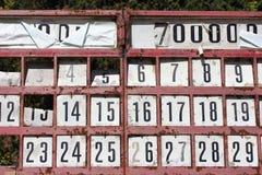 Números del bingo Foto de archivo libre de regalías