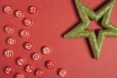Números del bingo en estilo plano Imágenes de archivo libres de regalías