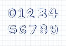 Números del bosquejo 0-9 Fotografía de archivo libre de regalías