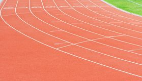 Números del carril de la pista del atletismo Fotos de archivo