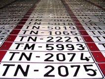Números del coche Imagenes de archivo