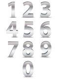 Números del cromo en 3D Foto de archivo libre de regalías