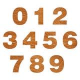 Números del cuero Imágenes de archivo libres de regalías
