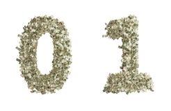 Números del dólar Imágenes de archivo libres de regalías