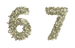Números del dólar Foto de archivo libre de regalías