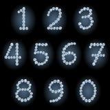 Números del diamante Foto de archivo