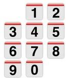 Números del estilo del mac stock de ilustración
