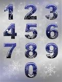 Números del invierno Imágenes de archivo libres de regalías
