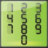 Números del LCD Digital Fotos de archivo