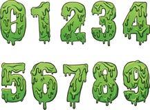 Números del limo ilustración del vector