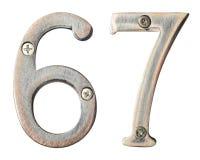 Números del metal imagenes de archivo