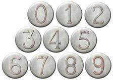Números del metal Foto de archivo libre de regalías