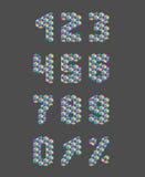 Números del modelo del triángulo fijados Fotos de archivo libres de regalías
