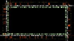 Números del movimiento en la pantalla negra
