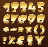 Números del oro Fotografía de archivo libre de regalías